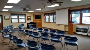 Sunshine room meeting set up
